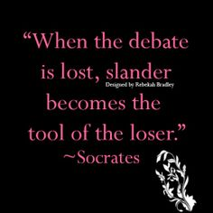 Tiffany couldn't find anything to consider me as a bad Stepmom. So she lied abuse child abuse and other things. When debate is lost slander becomes the tool of the loser.