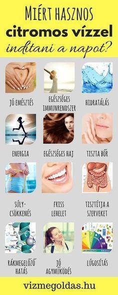 health detox 20 ok, amirt rdemes citromos vzzel kezdeni a napodat! Herbal Remedies, Health Remedies, Natural Remedies, Healthy Drinks, Healthy Eating, Healthy Recipes, Lemon Water, Beauty Care, Natural Health