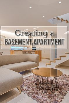 Make the most of unused space in your home, and learn how to convert your basement into an apartment. Basement Apartment Decor, Basement Remodel Diy, Basement Makeover, Apartment Renovation, Apartment Layout, Basement Renovations, Home Remodeling, Building A Basement, Basement Plans