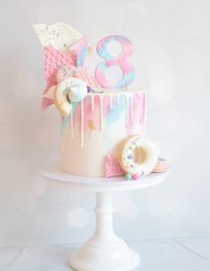 Handcrafted celebration cakes, suitable for every occasion. Dollybird Bakes has a wide selection of bespoke cakes available from her studio in Cornwall. Bake My Cake, Cake Gallery, Celebration Cakes, Cornwall, Donuts, Sweet Treats, Birthday Cake, Baking, Create