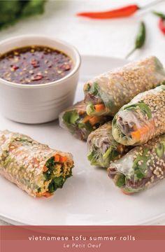 Vietnamese tofu summer rolls