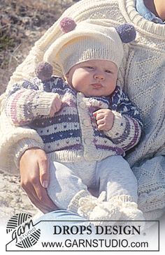 Drops Fair Isle Set, hat with pompoms and socks in 'Karisma Superwash'Set consists of: Jacket, hat and socks.