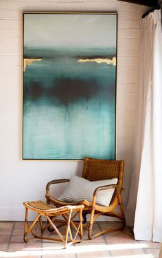 Cette toile ❤️ Palm Springs Häuser, Deco Design, Design Design, Design Blogs, Design Websites, Floor Design, Easy Home Decor, Home Decoration, Home And Deco
