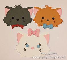 Premade Aristocats tsum tsum collection. #tsumtsum #svgfile #disney https://www.etsy.com/shop/PaperPiecingPals
