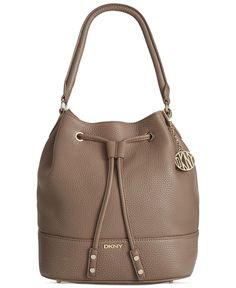 dc63b9e667 DKNY Tribeca Soft Tumbled Leather Drawstring Bucket