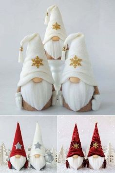 Preparing for Christmas: Make and Gift Lucky Gnomes Handmade Christmas Tree, Christmas Gnome, Diy Christmas Gifts, Christmas Decorations To Make, Holiday Decor, Easy Halloween Crafts, Christmas Crafts, Christmas Ornaments, 242