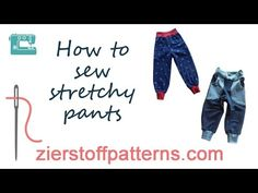 Sew baggy trousers / baggy pants / jogger pants DIY - YouTube