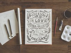 Zachary Smith - Hand Lettering Water Color