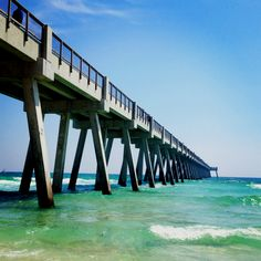 Navarre Beach Pier.... Gorgeous! But sadly, these may be the only waves I get to surf this summer. So small :-/