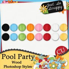 pretty little girl hairstyles : Pool Party Wood Photoshop Styles