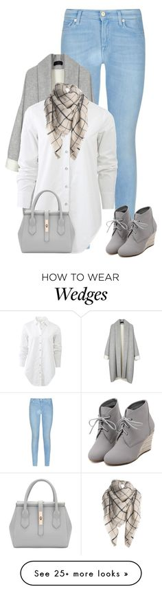 """*shrug*"" by the-l0st-girl on Polyvore featuring 7 For All Mankind, rag & bone, WithChic, women's clothing, women's fashion, women, female, woman, misses and juniors"
