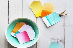 DIY Christmas Watercolor Gift Tag Ideas