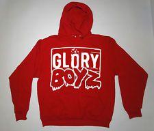 GLORY BOYZ WHITE/RED HOODIE SWEATSHIRT Chief Keef Sosa GBE 3Hunna Bang Bang