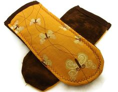 Pot Holder Handles Butterflies and Brown by bagsbyhags45 on Etsy, $3.00