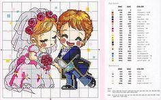 punto croce sposi
