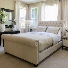Upholstered Sleigh Bed #birchlane