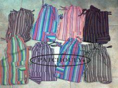 Pantalón Bali, Rayado, Artesanal, Multicolor, $140 en https://ofeliafeliz.com.ar