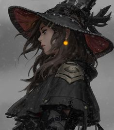 Pretty witch girl: Original fantasy character [digital art by GUWEIZ] Anime Fantasy, Fantasy Kunst, Fantasy Girl, Fantasy Witch, Fantasy Queen, Fantasy Wizard, Fantasy Character Design, Character Design Inspiration, Character Art