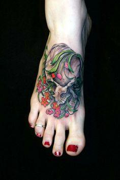 A gorgeous skull tattoo. #InkedMagazine #InkedMag #inked #tattoo #skull #tattoos #skuls