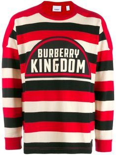 Burberry Kingdom Striped Relaxed-fit Cashmere Jumper In Red Cashmere Jumper, Long Sleeve Tee Shirts, Burberry Men, Women Wear, Men Sweater, Mens Fashion, Mens Tops, Fashion Design, Detail