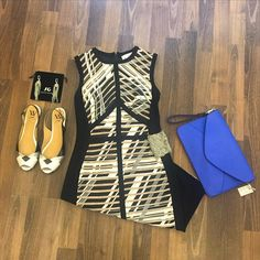 STAFF PICK OF THE DAY Stunning new dress from Joseph Ribkoff paired with great accessories #womensfashion #cvillefashion #CHOfashion