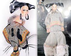 Dior illustrated by Nuno Da Costa