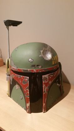 Step by step tutorial to make Boba Fett's helmet & gun