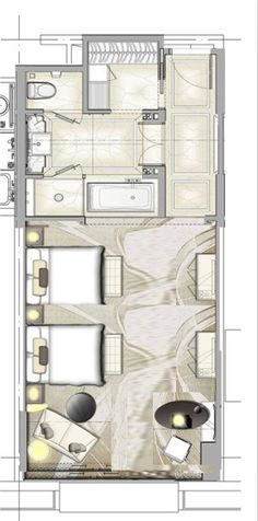 hotel floor plan Hotel plan Seating area and windows to be changed Design Hotel, Plano Hotel, Room Interior, Interior Design, Home Design, Hotel Floor Plan, Planer Layout, Apartment Plans, Bedroom Layouts