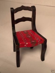 VINTAGE-1920s-TYNIETOY-SHERATON-HAND-PAINTED-FLORAL-CHAIR