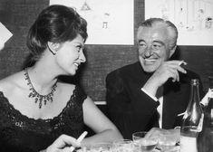 Milano, 1960. Vittorio De Sica e Sophia Loren