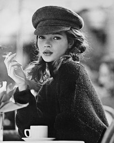 Kate Moss by Kate Garner, vintage, driver's cap, black & white, flashback. Kate Moss married Jamie Hince on July Kate Moss wore a wedding dress designed by former Dior designer and longtime friend John Galliano. Kate was born on January