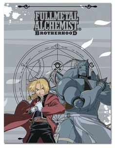 FullMetal Alchemist Brotherhood Ed & Al Throw Blanket