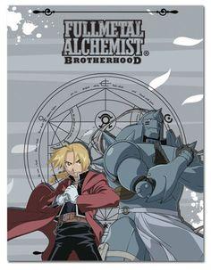 FullMetal Alchemist Brotherhood Ed & Al Throw Blanket