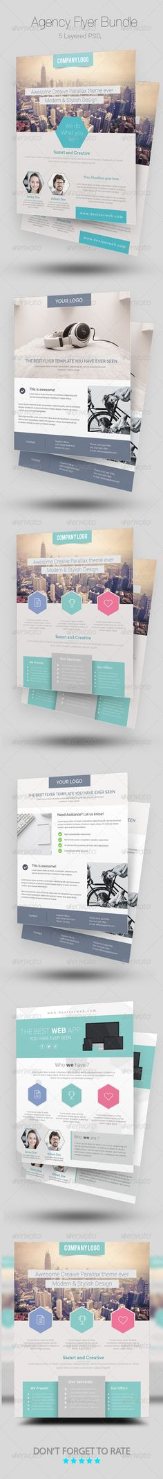 Agency/Business Flyer Bundle Template PSD | Buy and Download: http://graphicriver.net/item/agencybusiness-flyer-bundle/8685595?WT.ac=category_thumb&WT.z_author=rtralrayhan&ref=ksioks