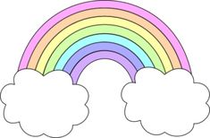 Rainbow with clouds pastel colours cute Rainbow Png, Rainbow Clipart, Rainbow Theme, Unicorn Drawing, Unicorn Art, 1st Birthday Girls, Unicorn Birthday Parties, Tumblr Png, Rainbow Images