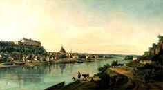 Bernardo Bellotto, Pirna dalla riva destra dell'Elba olio su tela Dresda, Gemaeldegalerie Alte Meister - Staatliche Kunstsammlungen Dresden Foto: Hans-Peter Klut