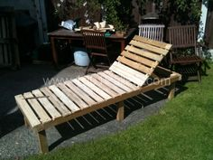 IMG 0434 600x450 Sun Lounger and small table from pallets in pallet outdoor project with pallet Outdoor