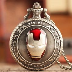 Iron Man Mask Quartz Pocket Watch  #anime #merchandise #comic #stuff #animeboy #animeart #animelover