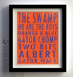 Hurts to do this, but Dustin is a Gator fan! Would look nice in our Divided House Game Room!