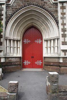 Church door, Auckland, New Zealand 2007 photo by Gord McKenna, via Flickr