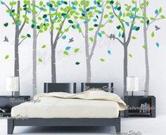 DIY Home: DIY Painted Birch Tree Mural