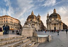 The Santa Maria twin churches. Perfect area to stay in rome. High end shops, bars and restaurants. Walking distance to every sight.