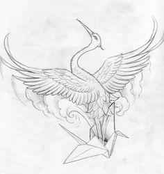 japanese crane tattoo - Google Search