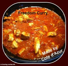 Made in France! Freedom Curry made by Cote d'Azur Property Indian Curry, Curries, Cravings, Freedom, France, Dishes, Ethnic Recipes, Food, Design
