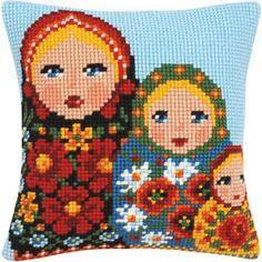my girls love nesting dolls Cross Stitching, Cross Stitch Embroidery, Cross Stitch Patterns, Cross Stitch Geometric, Russian Folk, Matryoshka Doll, Needlepoint Kits, Patch, Bunt