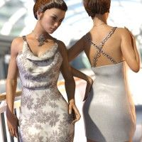 SY Cocktail Dress for Genesis 3 Female(s)