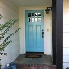 Just painted my front door yummy aqua