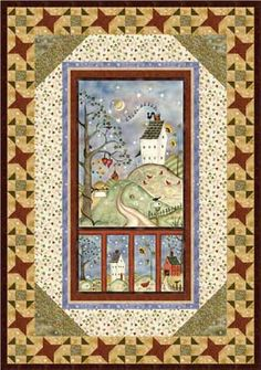Happily Ever After free pattern - someday :) This is beautiful! I have four seasonal machine embroidery panels that would be perfect for this. I think this might be a project for the near future,