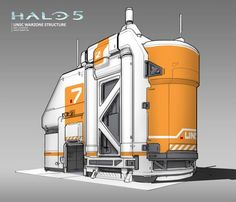 ArtStation - Halo 5 - Warzone Structures - Cover Building, Albert Ng