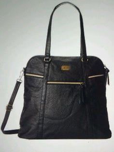 vans black leather purse